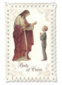 Standing Boy First Communion Prayer Card