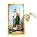 St Martha Prayer Card with Pewter Medal