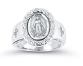 Crystal Miraculous Medal Ring sizes 5-8
