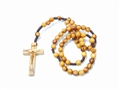 Olive Wood Small Rosary with Brown Cord