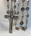 Divine Mercy Metal Rosary with I Trust in You beads