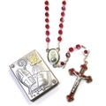 Confirmation Crystal Rosary with Plaque