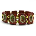 Our Lady of Guadalupe Wood Stretch Bracelet