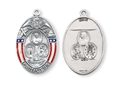 Sterling Silver Oval Protect Us Military Medal