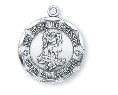 St michael vintage silver medal aloadofball Images