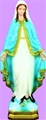 24 inch Our Lady Of Grace - Color Finish Plastic Outdoor Statue