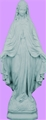 24 inch Our Lady Of Grace - Granite Finish Plastic Outdoor Statue