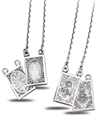 Sterling Badge Scapular - Sacred Heart & Miraculous