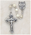 Sterling Silver Rosary with Mother of Pearl Bead