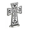 Small Standing Pewter Cross - Baptismal Blessing