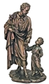 St. Joseph & Child Bronze 8 Inch Statue