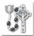 Saint Benedict Black Polished Boxwood Jubilee Rosary