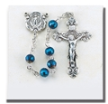 Zircon Multi Faceted Tin Cut Crystal Rosary