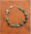 Sterling Silver and Turquoise Nugget Rosary Bracelet