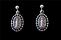 Sterling Silver Earrings, Miraculous Filigree Medals