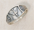 Sterling Silver Holy Spirit Ring, sizes 5 - 10