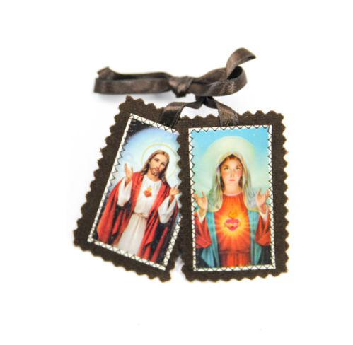 Brown Immaculate Heart - Sacred Heart Scapular