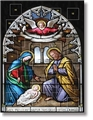 Stained Glass Nativity Advent Calendar - Cardstock