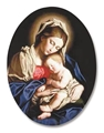 Madonna and Child Christmas Magnet