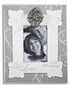 Silver 25th Anniversary Rhinestone Photo Frame