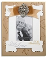 Gold 50th Anniversary Rhinestone Photo Frame