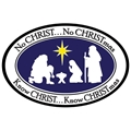 No Christ-No Christmas Car Magnet