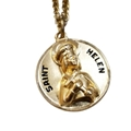 St Helen Medal - Gold Filled Round on Chain