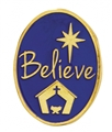 Believe Christmas Lapel Pin