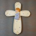Children's Ceramic Praying Boy Cross