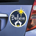 Christmas Believe Car Magnet