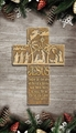 Nativity Wall Cross - 8 Inches