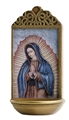 Our Lady of Guadalupe 6 Inch Holy Water Font