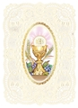 First Communion Deluxe Die-Cut Holy Card