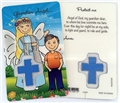 Boy's Guardian Angel Laminated Prayer Card