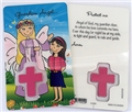 Girl's Guardian Angel Laminated Prayer Card