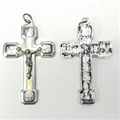 Stations of the Cross Silver Crucifix, White