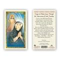 St. Faustina/Divine Mercy Paper prayer card, set of 100