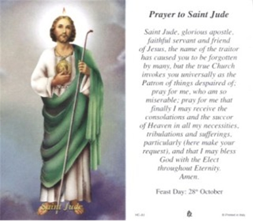 St jude prayer cards bulk prayer cards discount catholic products st jude prayer card 100 pack thecheapjerseys Gallery