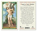 Saint Sebastian Laminated Prayer card