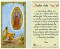 Mother of the True God Laminated Prayer Card