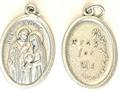 Holy Family Inexpensive Oxidized Medal