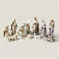8 Inch Pearlized Nativity Scene in 11 Pieces