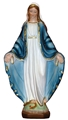 Handpainted Alabaster Our Lady of Grace - 8 or 13 inches