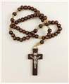5 mm Brown Wood Cord Rosary
