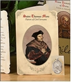 Saint Thomas More (Civil Servants) Holy Card with Medal