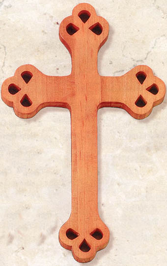 12 inch Fruitwood Cut Out Cross