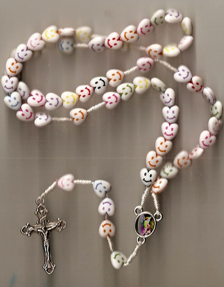Children's Heart Rosary with Smiles