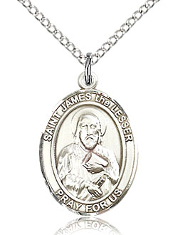 St James the Lesser Sterling Silver Medal