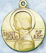 St Joan of Arc Gold Filled Medal