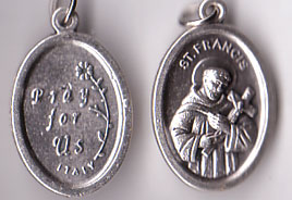 St. Francis of Assisi Oxidized Medal
